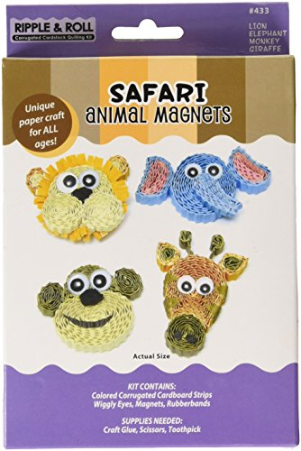 Quilled Creations Q433 Quilling Magnet Kit, Safari Animal
