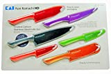 kai blade guard - Pure Komachi HD - 6 Coated Carbon Stainless Steel Knives with Matching Sheaths