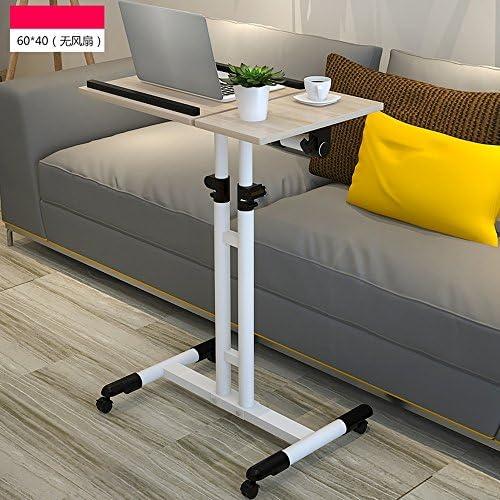ZR- Scrivania del Computer Domestico Sollevamento Comodino Mobile Panca Semplice E Moderno Tavolo per Notebook Tavolo con Ruote (Colore : C)