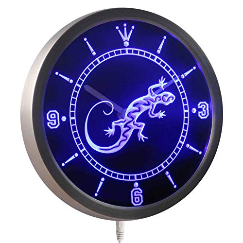 ADVPRO nc0414-b Gecko Lizard Display D?cor Bar Beer Neon Sign LED Wall