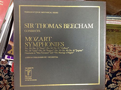 Thomas Beecham conducts Mozart Symphonies 29, 31, 34, 35, 36, 38, 39, 40, 41; Overtures to Don Giovanni and The Marriage of Figaro (Turnabout/Vox Historical Series) (5 LP ()