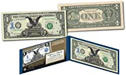 1899 Black Eagle Two Presidents One-Dollar Silver Certificate New Modern $1 U.S. Bill with Display