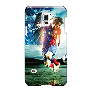 Shock-Absorbing Hard Phone Case For Samsung Galaxy S5 Mini (NTz1078bCcG) Unique Design Beautiful The Player Of Barcelona Lionel Messi Dribbling Pattern