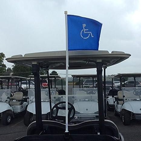 Amazon.com: Handicap Carrito de golf Bandera para rastrillo ...