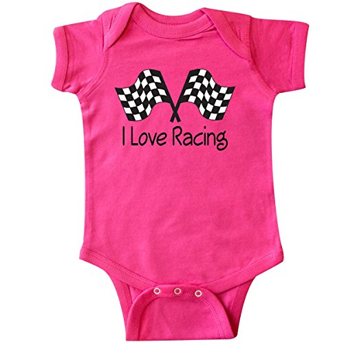 inktastic - I Love Racing Infant Creeper 6 Months Hot Pink 6520