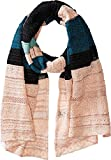 M Missoni Women's Lurex Lace Ribbon Scarf Teal One Size