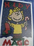 J & P Coats Latch Hook Peanuts Gang Holiday Magic Sally Latch Hook Kit