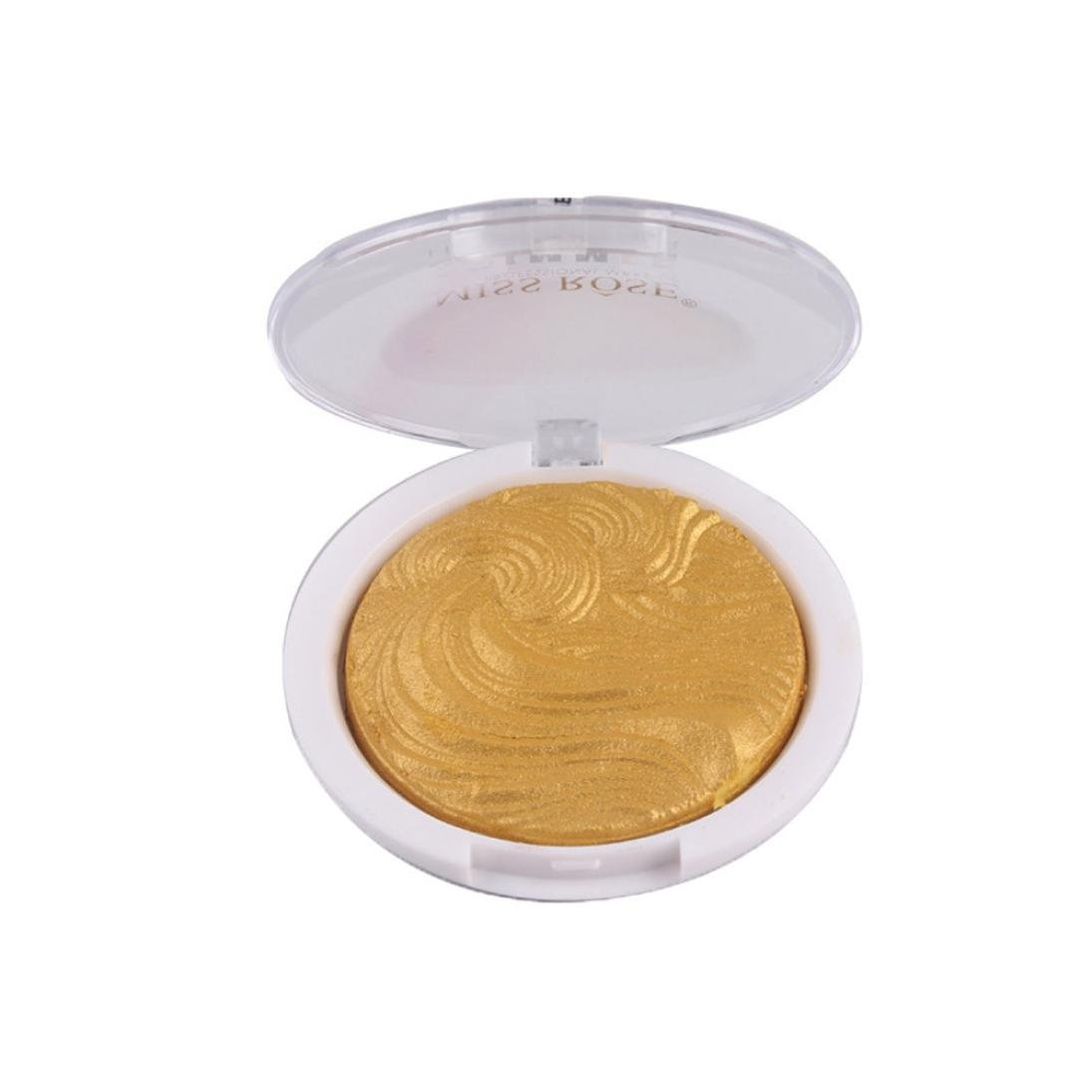Sixcup 3D Shimmer Highlighter Face Powder Palette Face Base shine Illuminator Compact Makeup Powder (Bronzing)