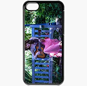 Personalized iPhone 5C Cell phone Case/Cover Skin Asian guitar music Black