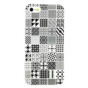 DUR Punk Irregular Stripe Box Pattern TPU Soft Case for iPhone 4/4S , Multicolor