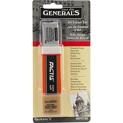 Generals Eraser - General Pencil Company Eraser Set 3-Pack