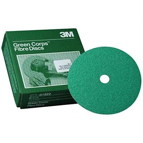 """3M Fibre Discs Green Corps 5""""""""X 7/8"""""""" 24G 20/Box"""