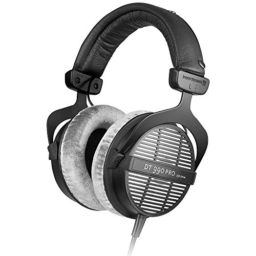 beyerdynamic DT 990 PRO Over-Ear Studio Headphones in black.