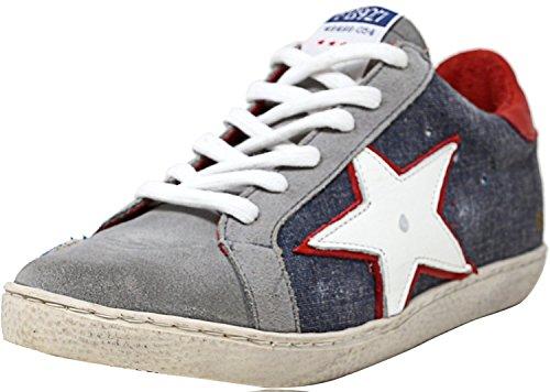 Freebird Women's 927 Fashion Sneaker, Denim Multi, 9 M US by Freebird