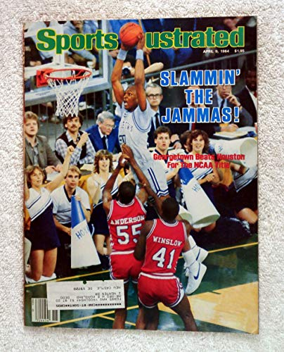 Michael Graham - Georgetown Hoyas - 1984 National Champions! - Sports Illustrated - April 9, 1984 - Houston Cougars - College Basketball - - Cougars Basketball College Houston