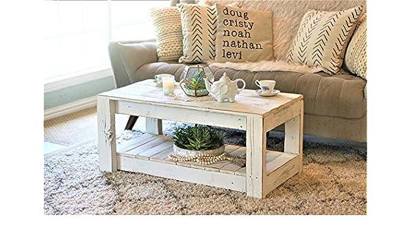 Mesa de centro de palets Unica & original blanca: Amazon.es: Handmade