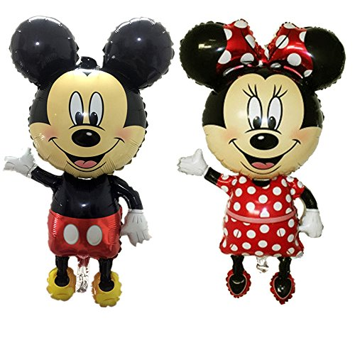 cutetrees set of 2 giant mickey mouse and minnie mouse foil balloons 43 inch for christmas party birthday party birthday decoration holiday decoration - Mickey And Minnie Mouse Christmas Decorations