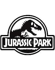 Solo E224 Jurassic Park Car Sticker, 15 x 15 cm - Black and White