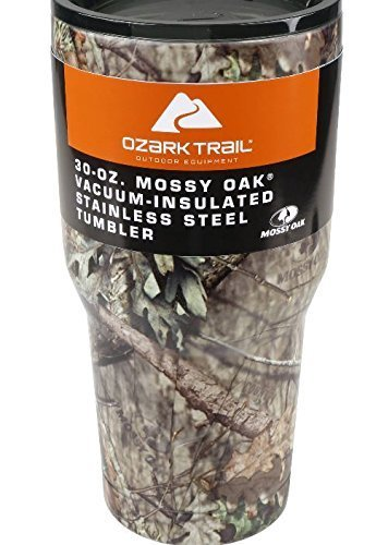Ozark Trail Vacuum Insulated Stainless Steel 30 Ounce Tumbler (Mossy Oak)]()