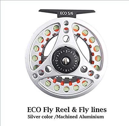 Trout Skin Fly Reel  7//8 WT Aluminum Large Arbor Fly Fishing Reel  FREE SHIPPING