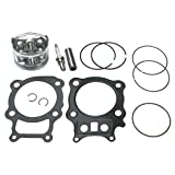 KIPA Piston Gasket Top End Kit For Honda Rancher 350 TRX350 TRX350FE TRX350FM TRX350TE TRX350TM ATV Quad 2000-2006 Replace OEM # 13101-HN5-670 12100-HN5-670