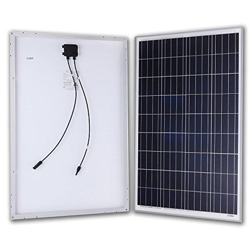 Komaes Solar Panel 100w - Polycrystalline Solar Panel 12 V Charger With Mc4 Connector For Deep Cycle Battery - Perfect For Residential, Industrial, Rv, Boat, Off Grid Installation by KOMAES