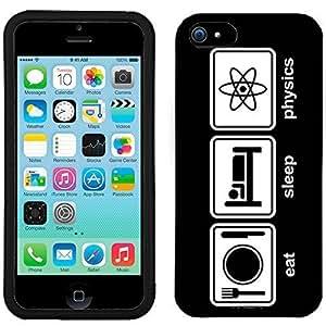 iPhone 5C Eat Sleep Physics on Black Case