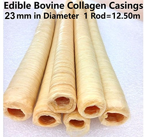 Pack of 2 Edible Bovine Collagen Casings 23mm in Diameter Total Length 25M / 82 Ft