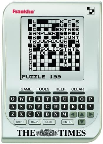 Franklin Cgt300 The Times Electronic Crossword Game Amazon Co Uk Electronics
