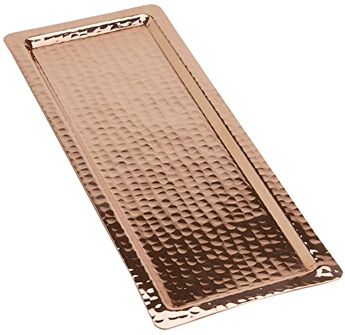 Copperbull Hammered Copper Rectengular Tray,13