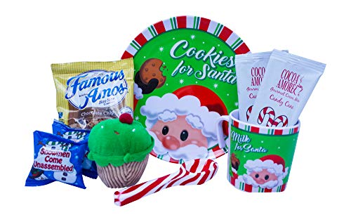 - Christmas Hot Cocoa and Cookies Gift For Kids With Mug, Plate, Hot Chocolate, Marshmallows, Cookies, Xmas Plush, and a Candy Cane Spoon - Best Gift Idea For Children or Grandchildren