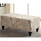 Cheap Coaster Home Furnishings 500986 Transitional Bench, Off White/Grey