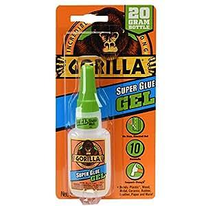 Gorilla Super Glue Gel, 20 g, Clear