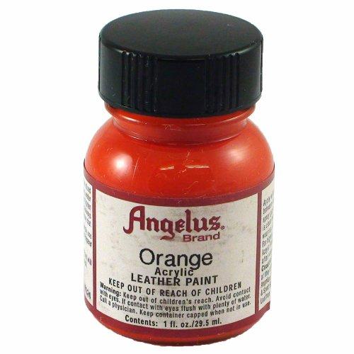 Angelus Orange Acrylic Leather Paint