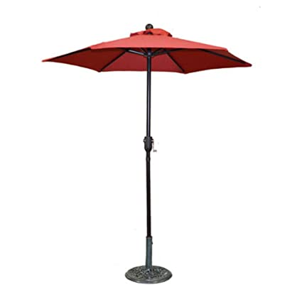 Home And Garden HGC 6 Ft. Metal Patio Umbrella With Crank