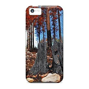 MMZ DIY PHONE CASEHot Tpye Majestic Forest After The Fire Case Cover For ipod touch 4