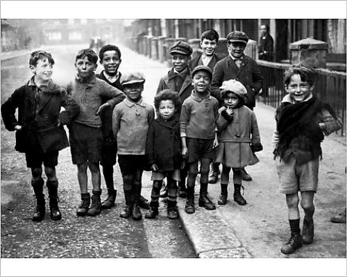 Photographic Print Of Children On A Street