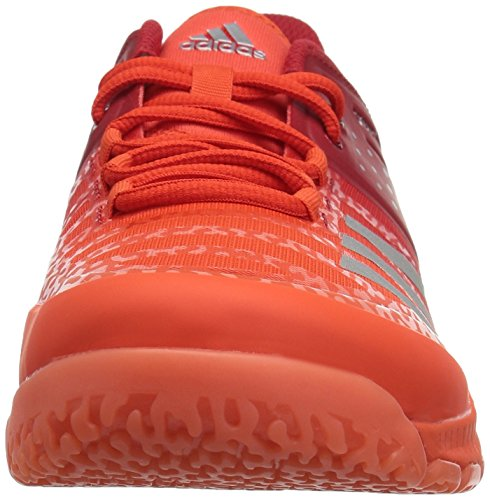 adidas Men's Crazyflight X Volleyball Shoes, Scarlet/Metallic  Silver/Energy, ((10 M US)