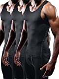 Kyпить Neleus Men's Athletic 3 Pack Compression Under Base Layer Sport Tank Top,Black,XL,EUR 2XL на Amazon.com