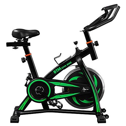 Exercise Bike fitness bike,Indoor Training Fitness Cardio Spin Bike Studio Cycles Exercise Machines Adjustable…