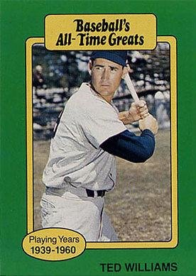 1987 Hygrade All Time Greats Ted Williams Baseball Card At