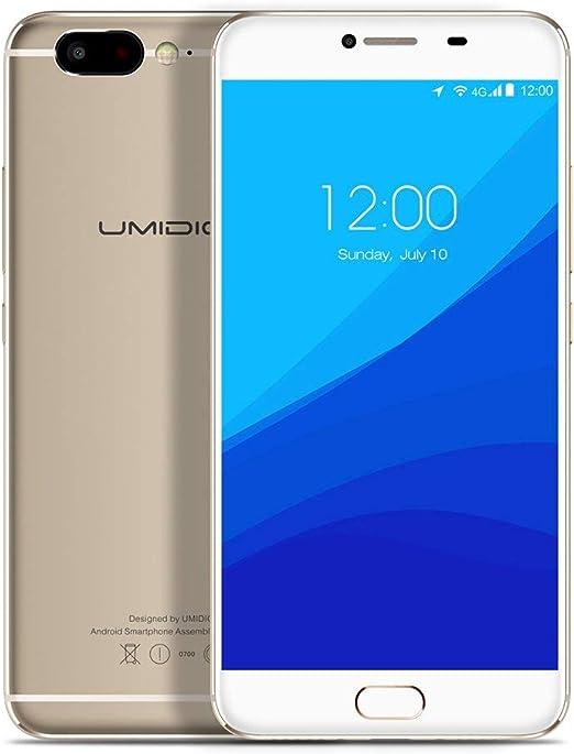 Smartphone 4G Pantalla FHD de 5.5 Pulgadas, 4GB RAM 32GB ROM, Android 6.0 2.6GHz Deca Core, Cámara Trasera de 13MP Cámara Frontal de 3MP, Teléfono Celular Dual Sim: Amazon.es: Jardín