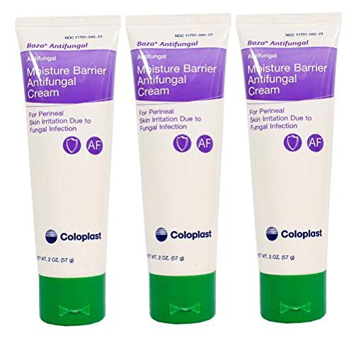 Baza Cream Antifungal Barrier - Baza Moisture Barrier Antifungal Cream - 2 Ounce Tube - Pack of 3