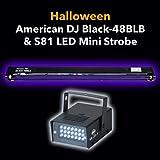Halloween Pack American DJ Black-48BLB 48'' Black Light and S81 LED II Strobe Light