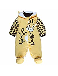 Newborn Baby Girls Boys Animal Style Rompers Fall Winter Playsuits Snowsuit