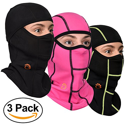 Face Mask Motorcycle Balaclava (Black, Pink, Black / Green - 3 - Stretch How Hat Flex To Fit A