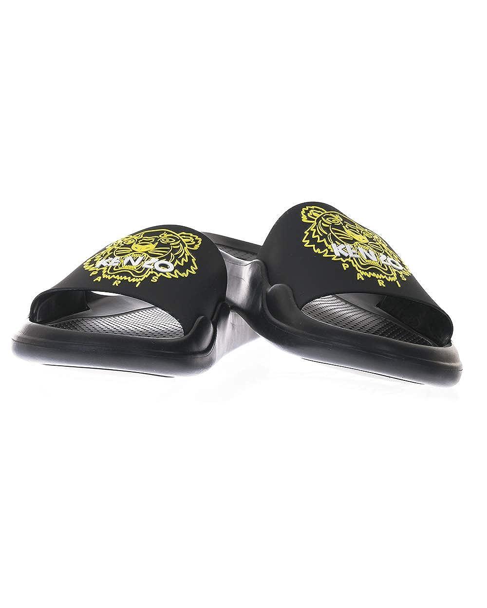 1bc39b355 Amazon.com | Kenzo Tiger Head Rubber Pool Slide Sandals Black | Slippers