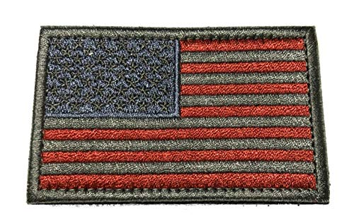 Logo Silver Series - American USA Flag Tactical Military Morale Embroidered Patch Silver America Military US World Flag Logo History Series Theme Iron or Sew-on Uniform Emblem Badge DIY Appliques Application Patches