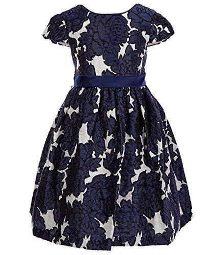 Bonnie Jean Big Girls 7-16 Floral Brocade Holiday Dress (10, (Tween Dresses Formal)