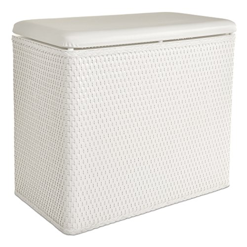 Lamont Home Carter Bench Hamper, White Bench Hamper